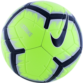 Nike Strike Soccer Ball (Volt/Metallic Silver/Black)