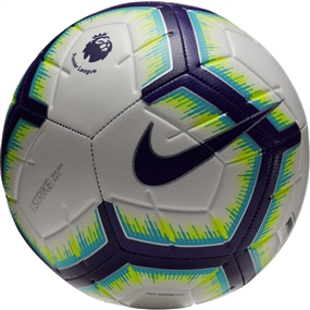 Nike Premier League Strike Soccer Ball (White/Blue/Purple)