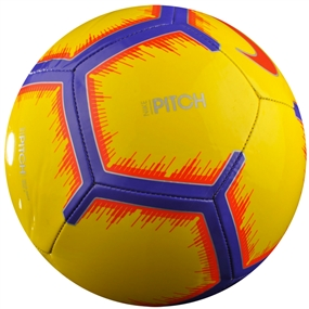 Nike Pitch Soccer Ball (Yellow/Purple/Flash Crimson)