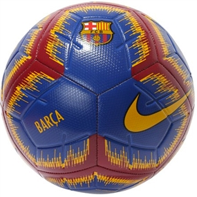 Nike FC Barcelona Strike Soccer Ball (Deep Royal Blue/University Gold)