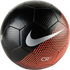 Nike CR7 Prestige Soccer Ball (Black/Flash Crimson/Silver)