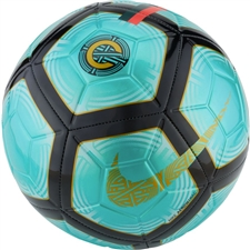 Nike CR7 Strike Soccer Ball (Clear Emerald/Black/Gold)
