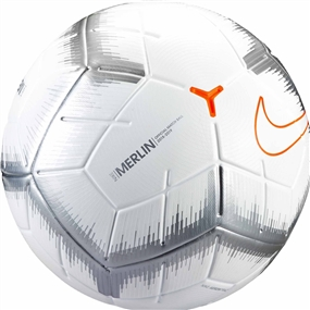 Nike Merlin QS Match Ball (White/Chrome/Total Orange)