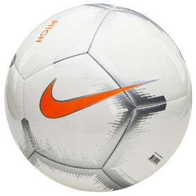 Nike Pitch Event Pack Soccer Ball (White/Chrome/Total Orange)