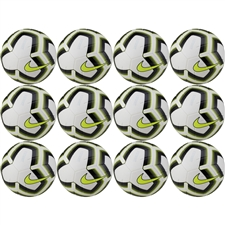 Nike Strike Team Soccer Ball 12 Pack (White/Volt/Black)