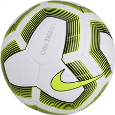 Nike Strike Pro Team Soccer Ball (White/Black/Volt)