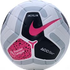 Nike Premier League Merlin Soccer Ball (White/Black/Cool Grey/Racer Pink)