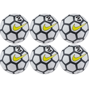 Nike Premier X Futsal Ball 6 Pack (White/Anthracite/Opti Yellow)