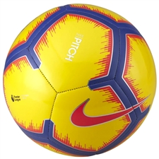 Nike Premier League Pitch Soccer Ball (Yellow/Purple/Flash Crimson)
