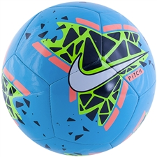 Nike Pitch Soccer Ball (Blue Hero/Obsidian/Bright Mango/White)