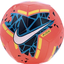 Nike Pitch Soccer Ball (Bright Mango/Obsidian/Volt/White)
