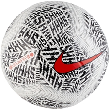 Nike Neymar Strike Soccer Ball (White/Black/Challenge Red)