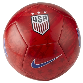 Nike USA Pitch Soccer Ball (Speed Red/Gym Red/White/Bright Blue)