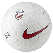 Nike USA Strike Soccer Ball (White/Pure Platinum/Gym Red/Blue Void)