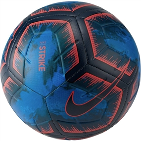 Nike Strike Night Soccer Ball (Obsidian/Bright Crimson)