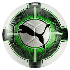 Puma evoPOWER Vigor 3.3 Tournament Soccer Ball (Puma White/Green Gecko/Puma Black)
