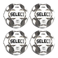 Select Royale Soccer Ball 4 Pack (White/Black)