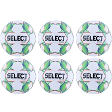Select Magico Futsal Ball 18' 6 Pack (White/Green/Orange)