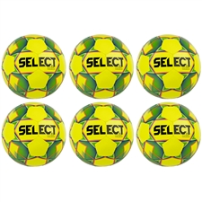 Select Magico Futsal Ball 18' 6 Pack (Yellow/Green)