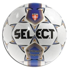 Select Brilliant Super Soccer Ball (White/Blue)