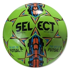 Select Futsal Master Soccer Ball (Neon Green)