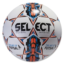 Select Futsal Master Soccer Ball (White)