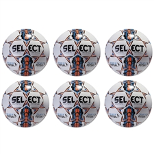 Select Futsal Master Soccer Ball 6 Pack (White)