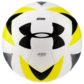 Under Armour 495 Soccer Ball (White/High Vis Yellow)