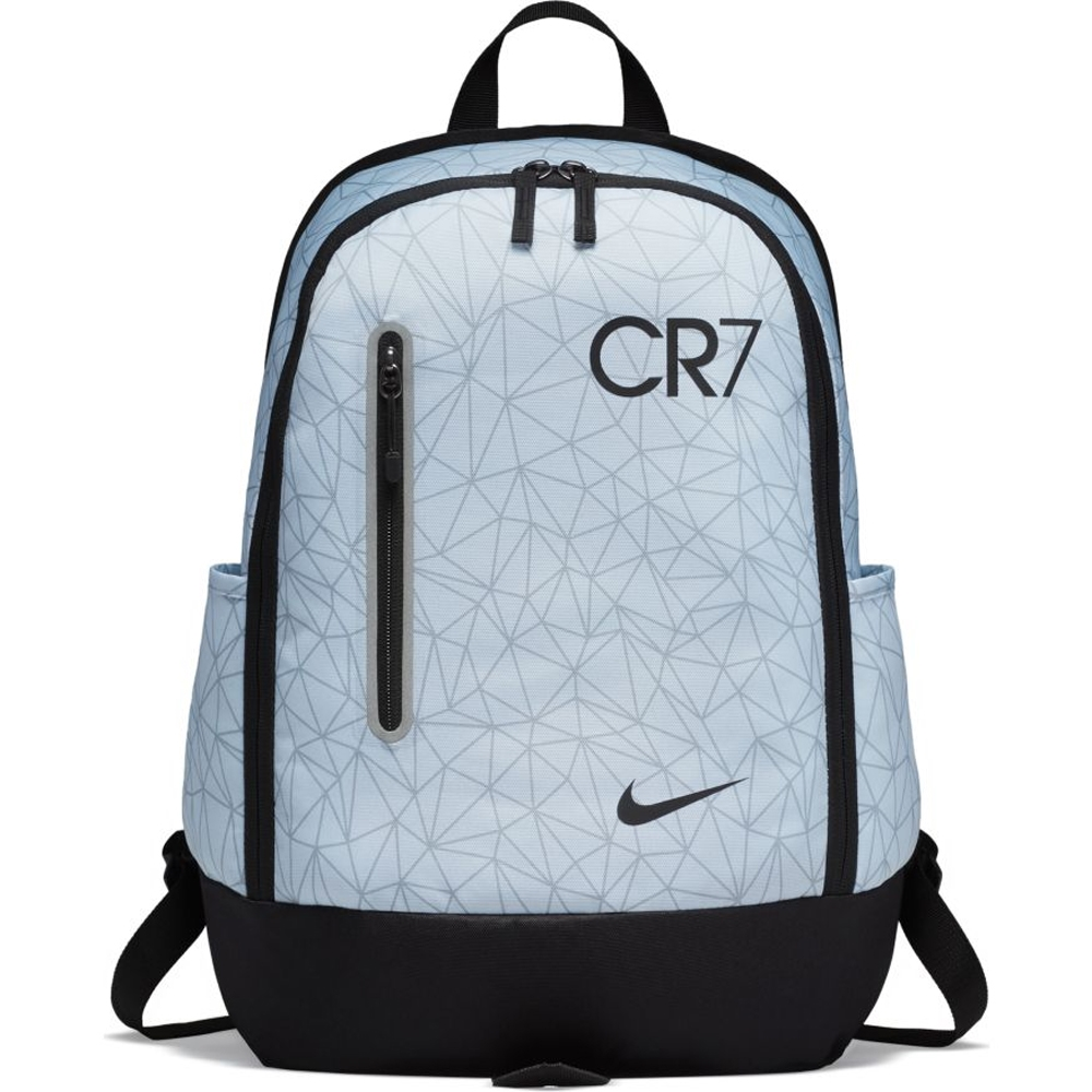 Nike Cr7 Youth Soccer Backpack Pure Platinum Black