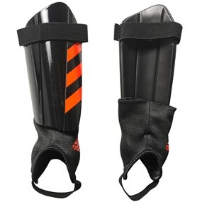 Adidas Ghost Club Soccer Shin Guards (Black/Solar Red)
