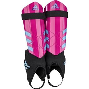 Adidas Youth Ghost Soccer Shin Guards (Shock Pink/Bright Cyan)