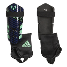 Adidas Youth Messi 10 Soccer Shinguards (Unity Ink/Black/Hi-Res Green)