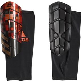 Adidas X Graphic Shin Guards (Silver Metallic/Black/Copper Gold)