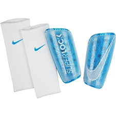 Nike Mercurial Lite SuperLock Shin Guards (Blue Hero/White)