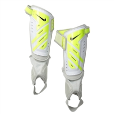 Nike Youth Protegga Shield Shin Guards (White/Volt/Black)