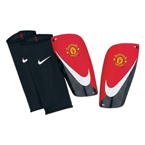 Nike Mercurial Lite Manchester United Soccer Shinguards (Black/Red/White)