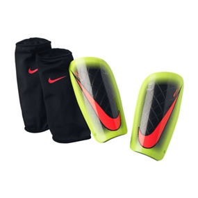 Nike Mercurial Lite '14 Soccer Shinguards (Black/Volt/Hyper Punch)