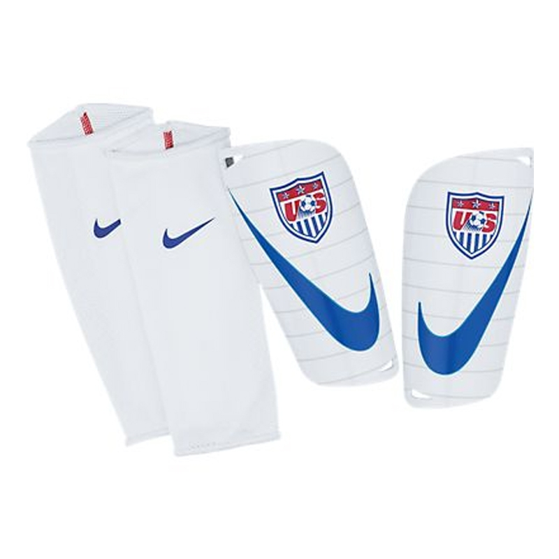 new cheap newest get cheap Nike USA Mercurial Lite Soccer Shinguards (White/Red/Blue)