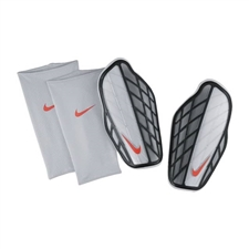 Nike Protegga Pro Soccer Shin Guards (Silver/Black/Hyper Orange)