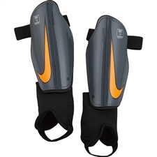 Nike Youth Charge Soccer Shin Guards (Dark Grey/Black/Total Orange)