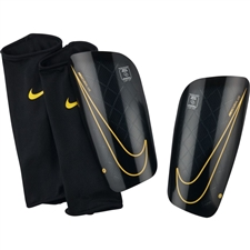 Nike Mercurial Lite Soccer Shin Guards (Black/Laser Orange/Black)