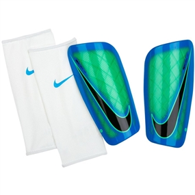 Nike Mercurial Lite Soccer Shinguards (Electro Green/Photo Blue/Black)
