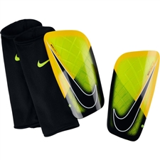 Nike Mercurial Lite Soccer Shin Guards (Volt/Laser Orange/Black)