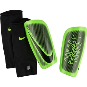 Nike Neymar Mercurial Lite Soccer Shinguards (Black/Electric Green)