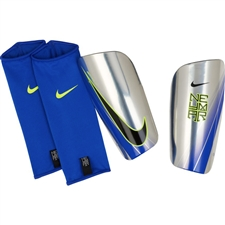 Nike Neymar Mercurial Lite Soccer Shin Guards (Chrome/Volt/Racer Blue/Black)