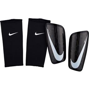 Nike Mercurial Lite Soccer Shin Guards (Black/White)