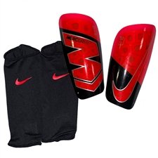 Nike Mercurial Lite Soccer Shin Guards (Black/Bright Crimson)