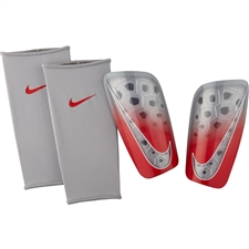 Nike Mercurial Lite Soccer Shin Guards (Wolf Grey/Light Crimson/Pure Platinum)