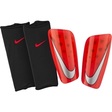 Nike Mercurial Lite Soccer Shin Guards (Bright Crimson/University Red/Cool Grey)