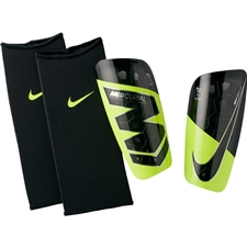 Nike Mercurial Lite Soccer Shin Guards (Volt/Black)